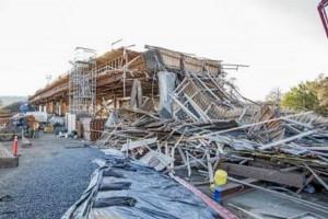 Collapse Jan. 22, 2015. Photo Credit: Steve Eberhard Willits News