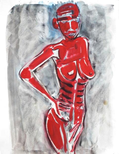 Ilya Grinberg - Femme rouge