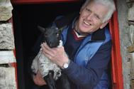 Martin with lamb