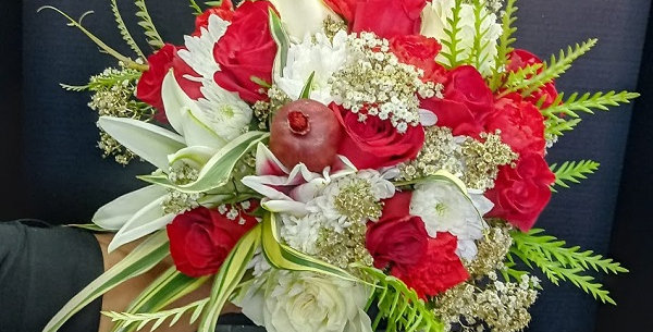 The special day bouquet. Elegant flowers bouquet for your wedding.