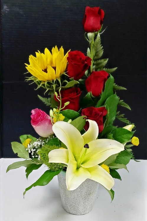 Just because flowers, roses, and other flowers arrangement