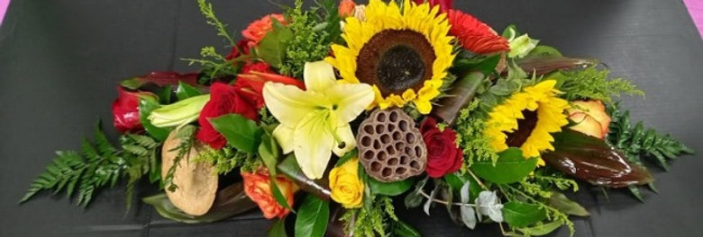 Beautiful center piece at Estrella's Flower shop