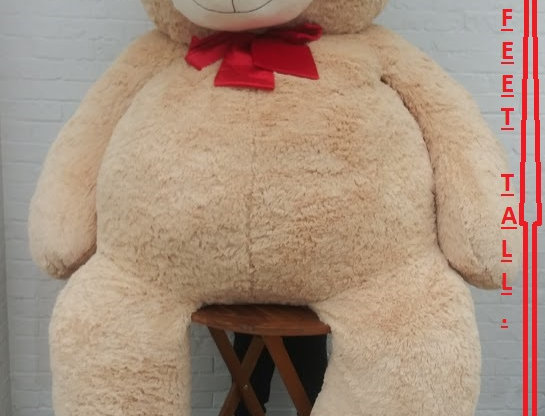 Giant teddy bear. 9 feet tall.