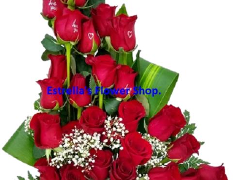 36 Roses design in l shape
