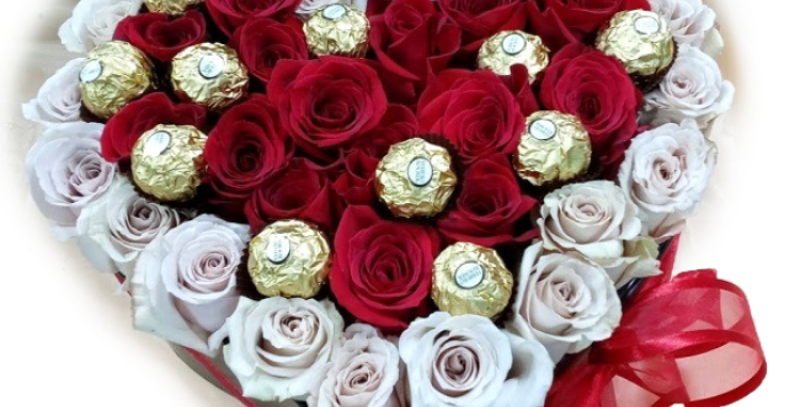 Chocolates and roses in my heart