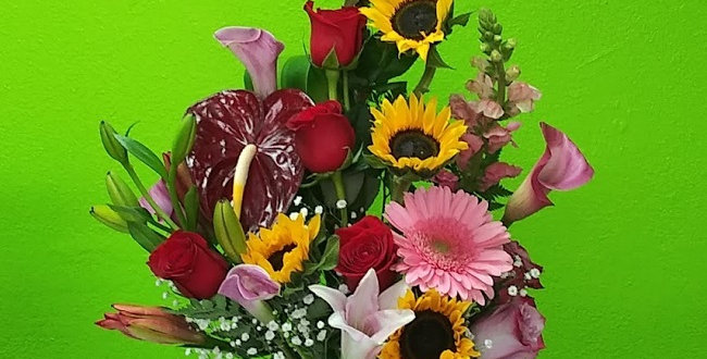 Celebration flowers, Celebrate love romance with colorful flowers design.
