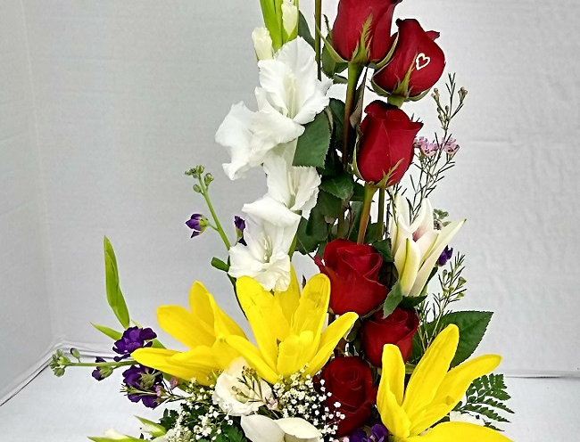 unique flowers beautifully arranged