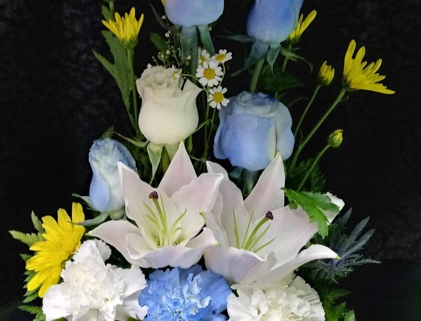 Baby boy flowers, fresh flowers for a baby