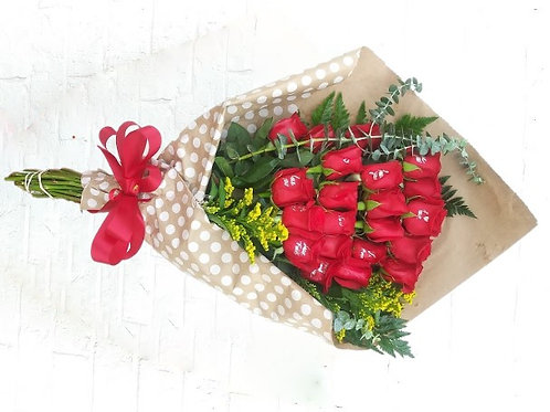 24 Roses wrapped only
