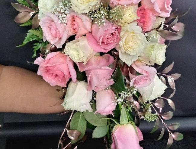 Sweet wedding bouquet, beautiful bride bouquet