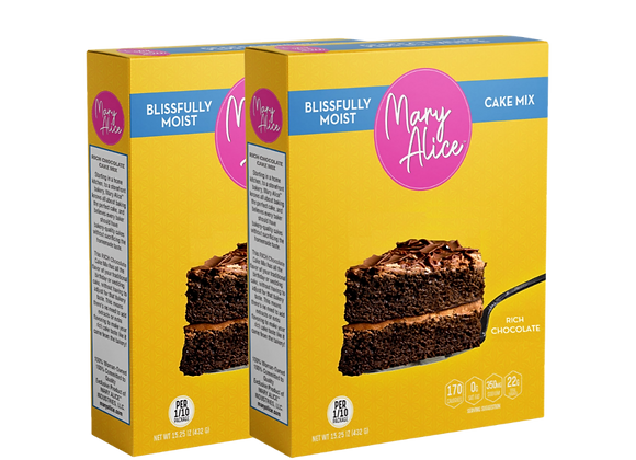 COMING SOON! - Two-Pack - Rich Chocolate Cake Mix