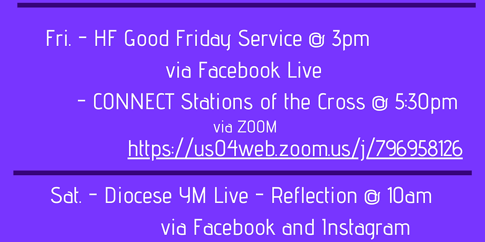 CONNECT this Holy Week