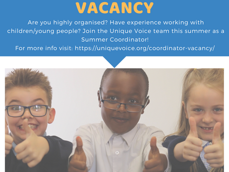 Summer Coordinator with Unique Voice