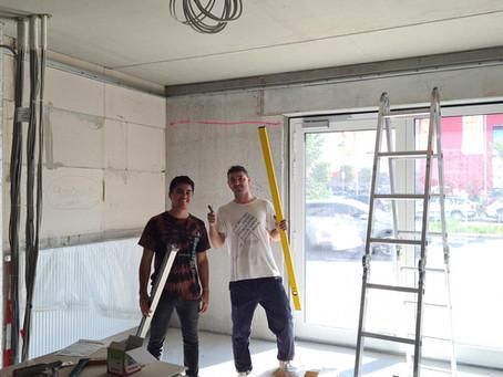 Trabajando en la construcción