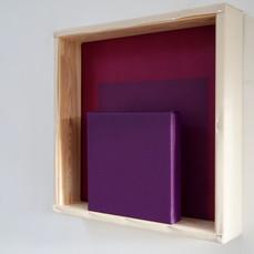 28th of April, 2021- 50x50x10cm acrylic, wood, canvas