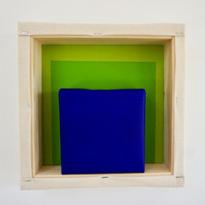 19th of April, 2021- 25x25x5cm acrylic, wood, canvas