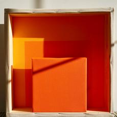 26th of April, 2021- 50x50x10cm acrylic, wood, canvas