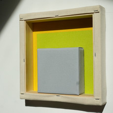 24th of April,2021- 25x25x5cm acrylic, wood, canvas