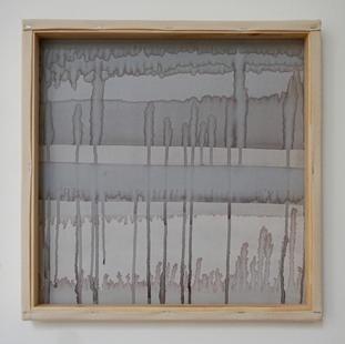 8th of July, 2021 50x50x5cm - acrylic, ink, wood, canvas
