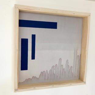 1st of July, 2021 46x46x5cm Ink, acrylic, wood, canvas