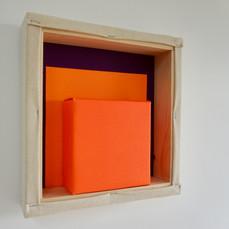 21st of April, 2021- 25x25x5cm acrylic, wood, canvas