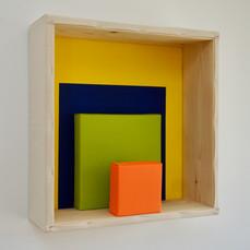 30th of April, 2021- 50x50x15cm acrylic, wood, canvas