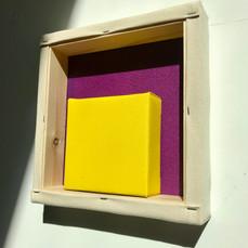 23rd of April,2021- 25x25x5cm acrylic, wood, canvas