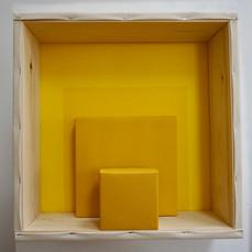 29th of April, 2021- 50x50x15cm acrylic, wood, canvas
