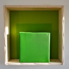 27th of April, 2021- 50x50x10cm acrylic, wood, canvas