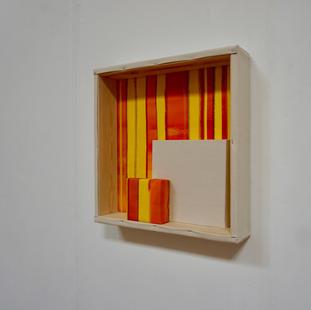27th of May, 2021 - 50x50x10cm acrylic, wood, canvas