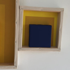 20th of April, 2021- 25x25x5cm acrylic, wood, canvas