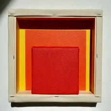 25th of April,2021- 25x25x5cm acrylic, wood, canvas