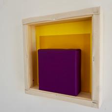 22nd of April,2021- 25x25x5cm acrylic, wood, canvas