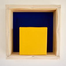 18th of April, 2021- 25x25x5cm acrylic, wood, canvas