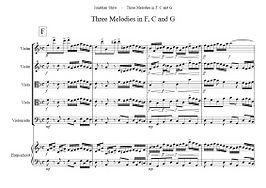 C.3 - Three Melodies in F, C and G (Sib6