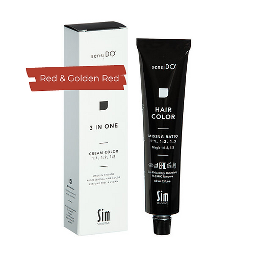 3 in ONE Creme Color - RED & GOLDEN RED
