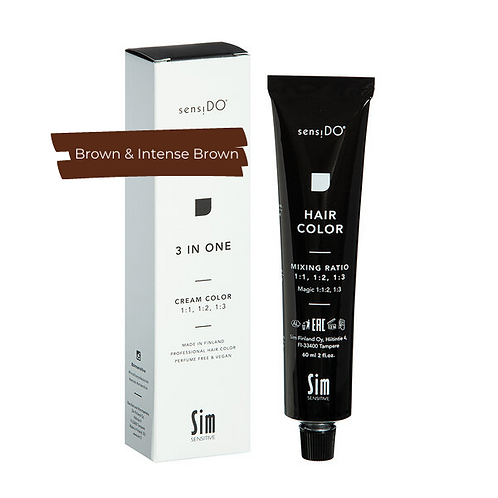 3 in ONE Creme Color - BROWN & INTENSE BROWN