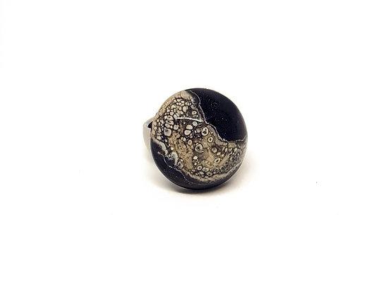 Ring - Zwart met ivoor