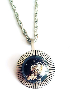 Ketting: Black and gold
