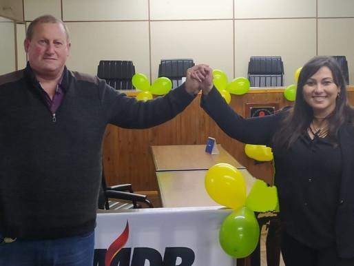 "MDB oficializa ""chapa pura"" com Edmundo Pichler e Liziane Jardim"