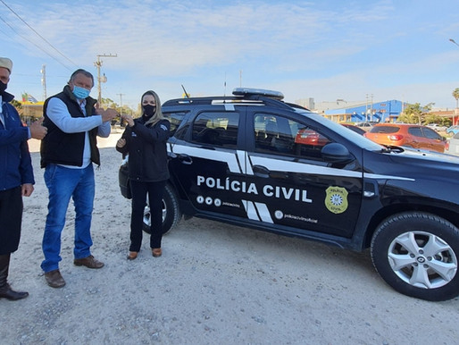 Hamm entrega primeira viatura para Polícia Civil em Aceguá