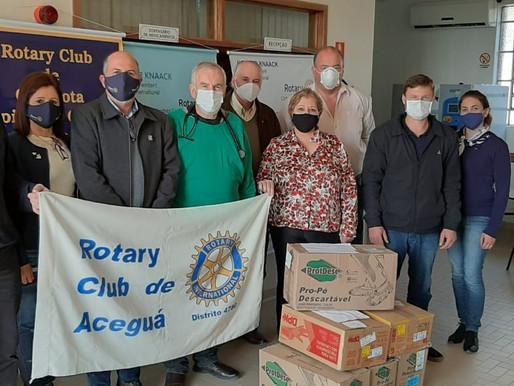 Rotary realiza doação de EPIs para o Hospital Colônia Nova