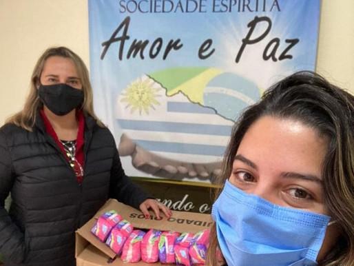 Projeto Aluadas realiza doações de absorventes à mulheres carentes em Aceguá