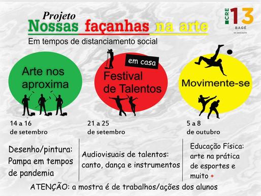 Alunos das escolas estaduais podem participar de projeto regional de arte, cultura e esporte