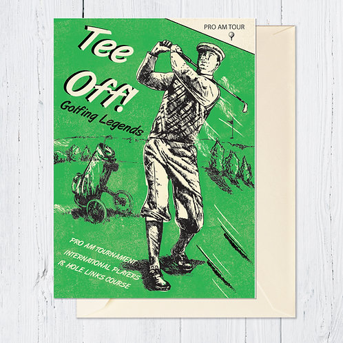 PACK of 6 Tee Off Card