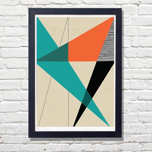 Diagonal Geometrical Print