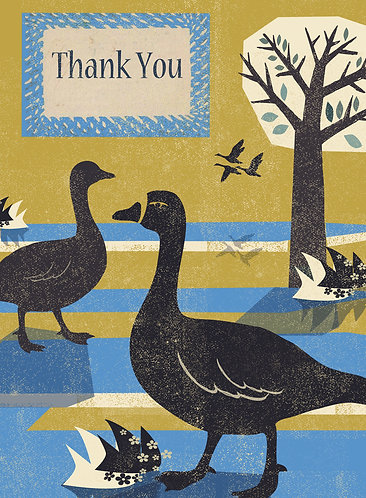PACK of 6 Thank You Card