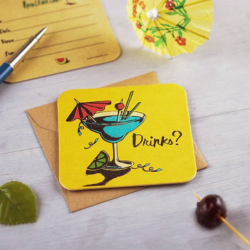 Cocktail Coaster Party Invite