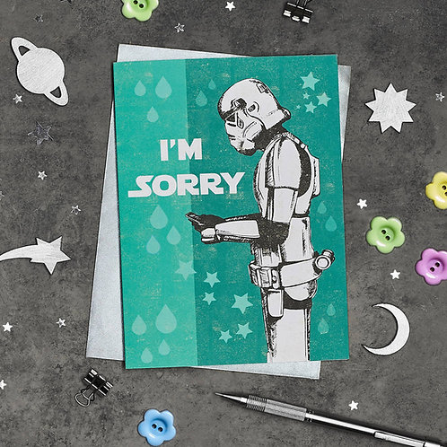PACK of 6 Stormtrooper I'm Sorry Texting Card
