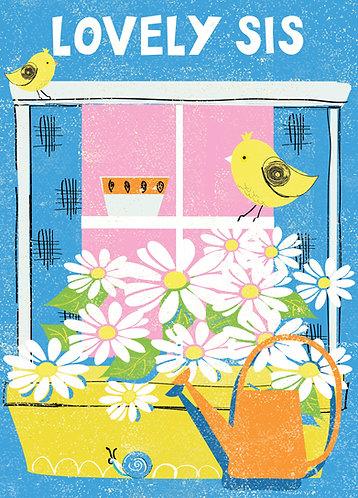 Lovely Sis Card